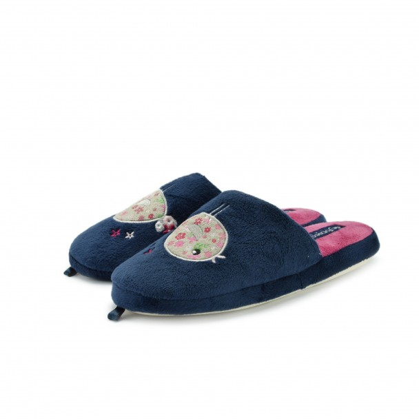 Woman home slippers Defonseca, ROMA TOP W204, blu scuro