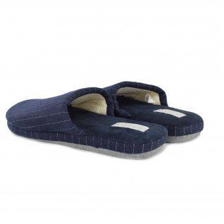 Men home slippers Defonseca, ROMA TOP M405, Blue Line